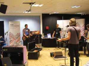 In session on BBC Introducing Lancashire with Sean McGinty